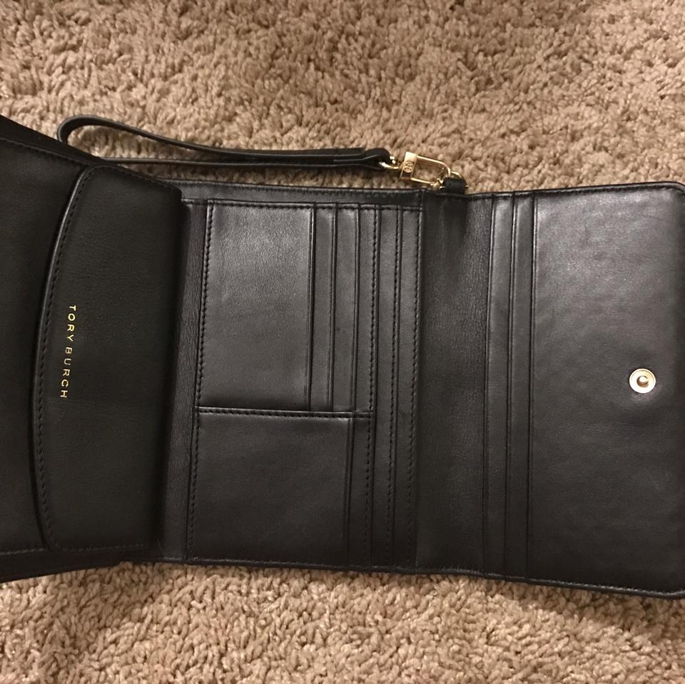 Black Quilted Tory Burch Marion fold Tri Clutch Leather fx1zqa