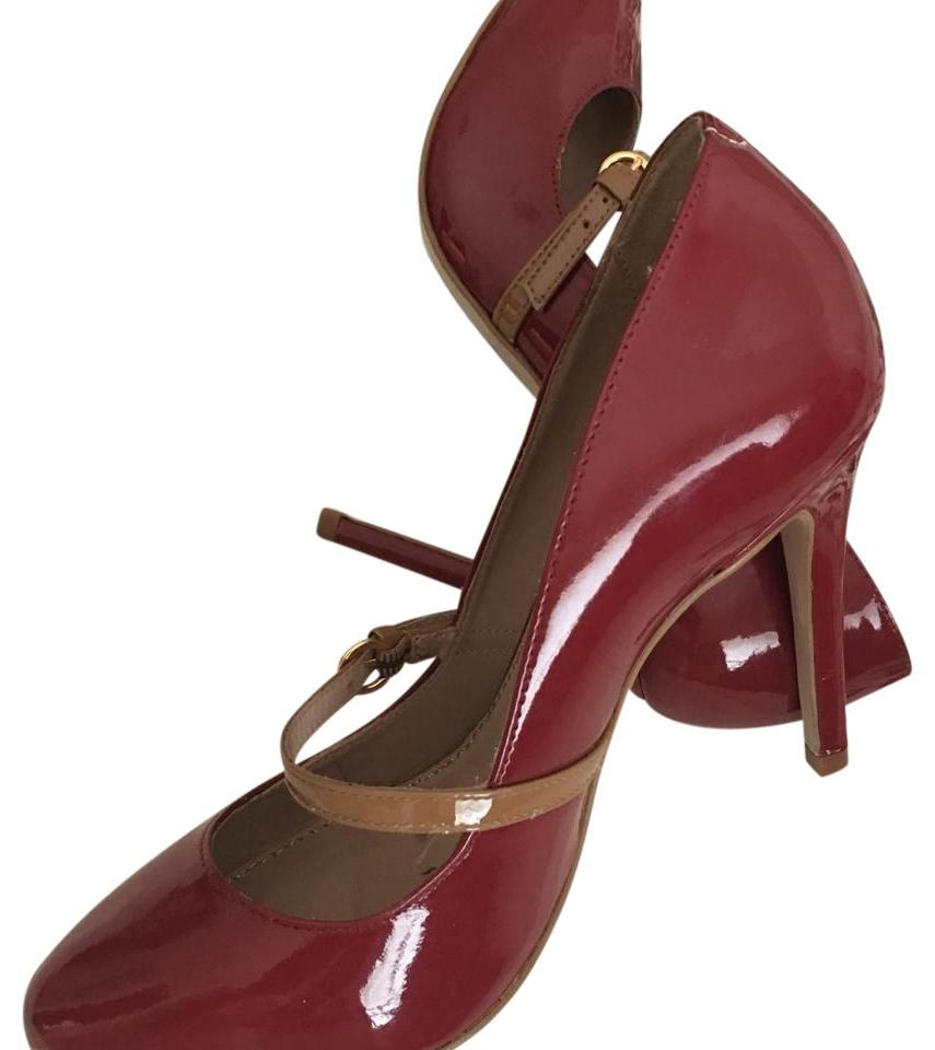 KG Kurt Geiger Craneberry Red Tone and Tan Fabulous Two Tone Red Mary Janes Pumps ce846a