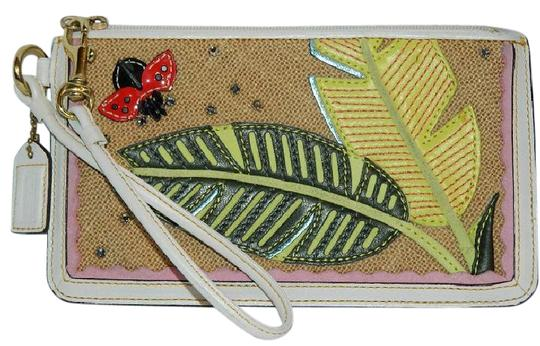 Preload https://img-static.tradesy.com/item/21396129/coach-leafy-ladybug-crystal-applique-large-clutch-whitemulticolorgold-cowhide-leathersuedestraw-wris-0-1-540-540.jpg