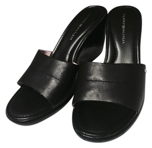 Tommy Hilfiger Black Wedges