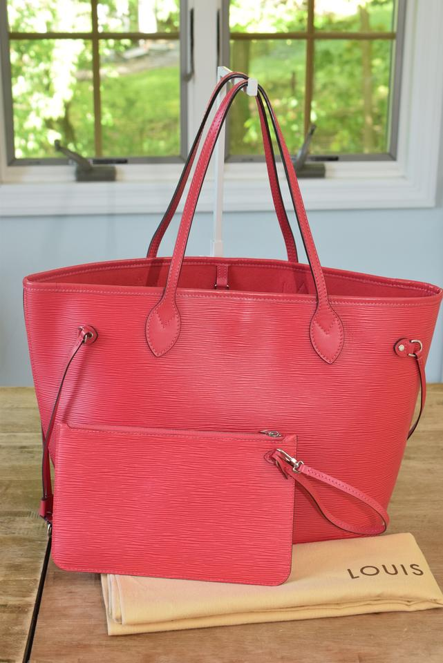 baca577279a6 Louis Vuitton Neverfull Mm Pink Epi Leather Tote - Tradesy