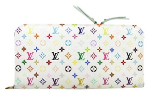 Louis Vuitton Lv Insolite Lv Long Wallet Lv Wallet Lv Monogram Wallet Lv Large Wallet White multicolor exterior with mint green interior Clutch