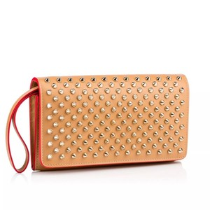 Christian Louboutin Wristlet in Biscuit and Gold