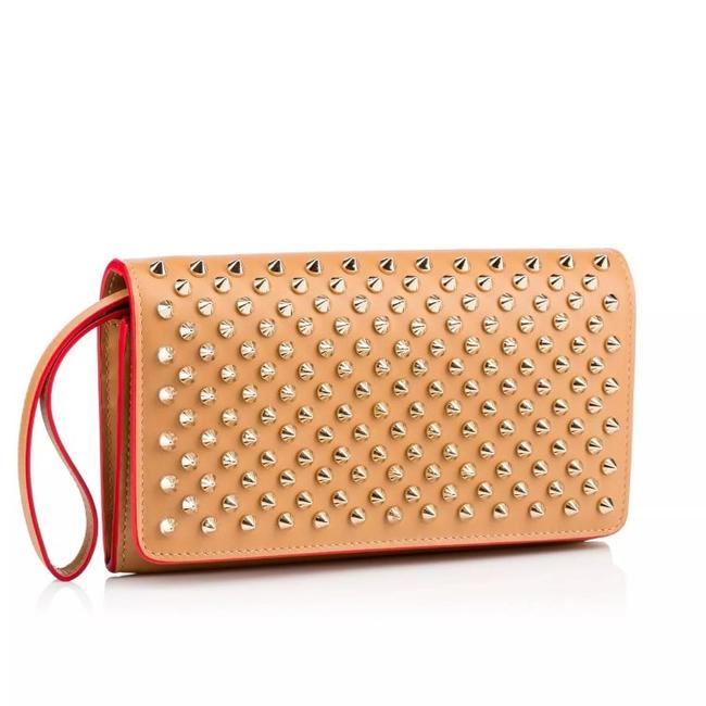Item - Macaron Biscuit and Gold Calfskin Leather Wristlet