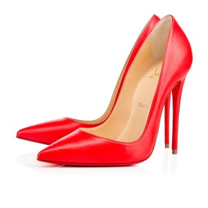 Christian Louboutin So Kate 120mm Nappa Shiny New Red fraise Pumps
