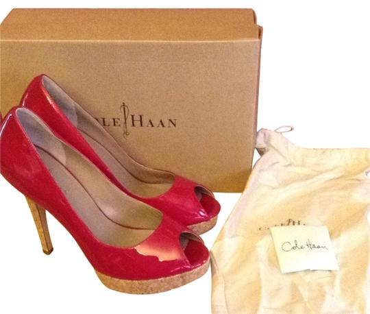 Cole Haan Patent Leather Nike Air Comfortable Red Pumps