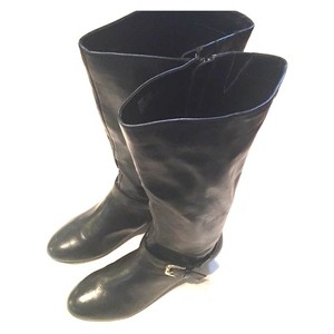 Me Too Leather Knee High Black Boots