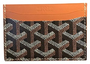 Goyard Black & Tan Saint Sulpice Credit Card Holder Wallet