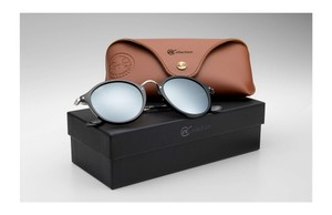 Ray-Ban NEW Ray-Ban RB2447 ROUND-FLECK-Collection-Black-Silver