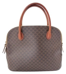 Céline Macadam Hand Penny Lane Satchel in Brown