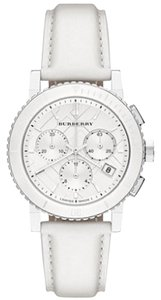 Burberry Burberry BU9701 The City Women's Chronograph Watch White Leather Band