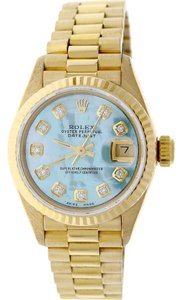 Rolex Rolex President Datejust Ladies Gold 26MM w/MOP Diamond Dial & Bezel