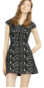 Zara Jacquard Leopard V Neck Dress