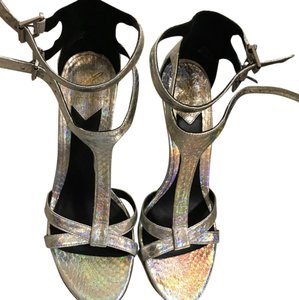 Brian Atwood silver Formal