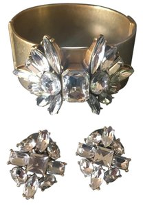 J.Crew J Crew crystal earring and cuff set
