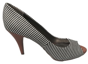 Fergalicious by Fergie Black White Stripe Pumps