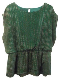 Bobeau Top Kelly Green/Gold