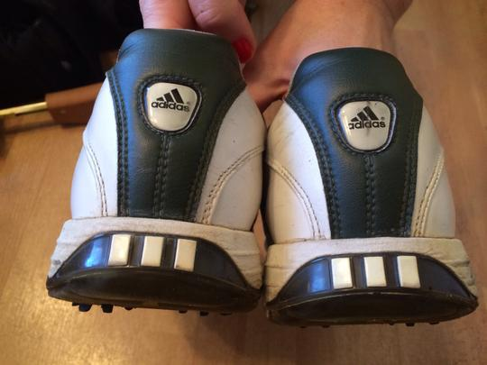 adidas Leather Golf Mens Golf Soft Spike White Athletic Image 1