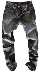 Men's Diesel Straight Leg Jeans-Distressed