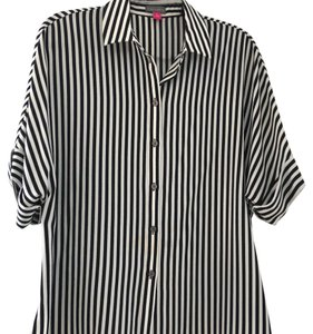 Vince Camuto Top Black and white stripes