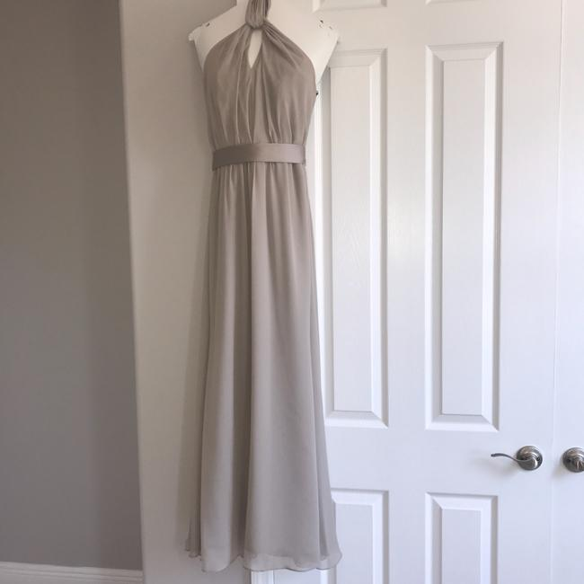Item - Stone Crinkle Chiffon Halter / Event Formal Bridesmaid/Mob Dress Size 0 (XS)