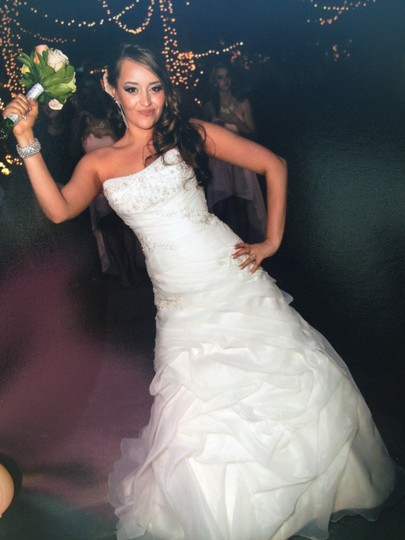 Allure Bridals Ivory Satin and Organza Romance #2359 Sexy Wedding Dress Size 6 (S) Image 2