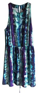 Mossimo Supply Co. short dress Blue with mixed colors Summer on Tradesy