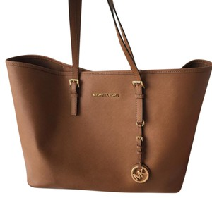 Michael Kors Jet Set Gucci Tote in Brown