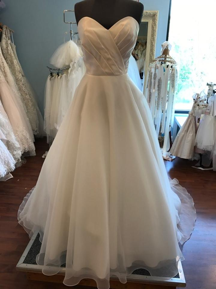 Jacquelin Exclusive Ivory//Silver 19971 Wedding Dress Size 14 (L ...