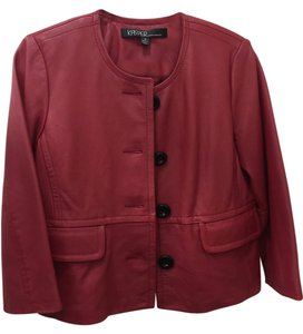 Kasper Leather Leather Red Leather Jacket