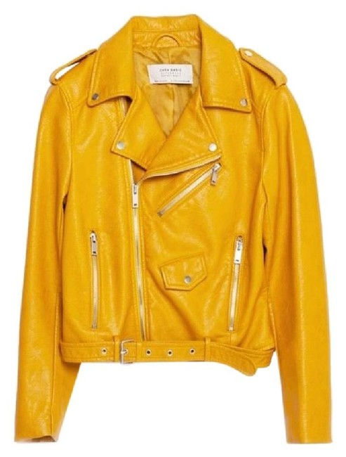 Item - Mustard Yellow Basic Faux-leather Jacket Size 8 (M)