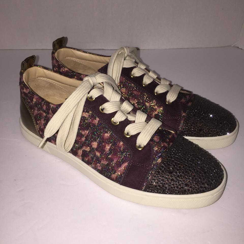 check out 0559a 74ed7 Christian Louboutin Purple Gondolastrass Low Cut Sneaker Sneakers Size US  7.5 Regular (M, B)