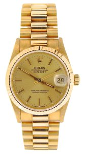 Rolex Mid-Size Rolex Yellow Gold Datejust President Gold Champagne 68278