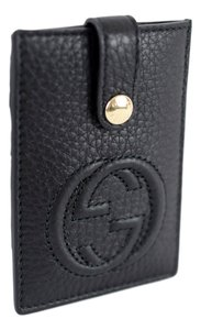 Gucci GUCCI 338331 Black Soho Leather Clip Card Case