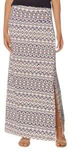 The Limited Batik Mid Waist Maxi Skirt Multicolor