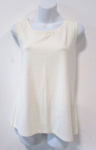 Talbots Casual Sleeveless Basic Comfortable Classic Top Cream
