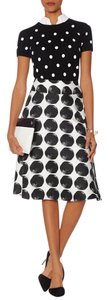 The Limited Polka Dot High Waist Skirt Black