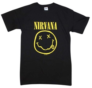 Nirvana The Treasured Hippie Music Boho Band Memorabilia T Shirt Black