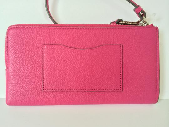 Coach Wallet Leather Wristlet in Pink