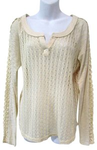 Miss Me Open Knit Long Sleeve V-neck Knit Casual Sweater