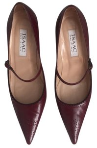 Isaac Mizrahi Burgundy Pumps