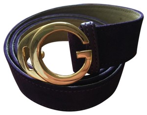Gucci Purple Suede Womens Gucci Belt