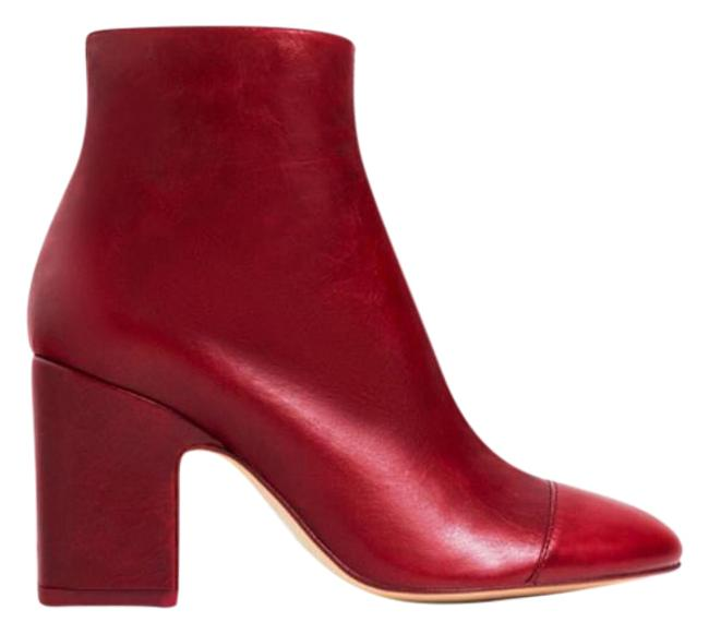 Item - Red Chunky Heel Boots/Booties Size US 6.5 Regular (M, B)