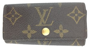Louis Vuitton #11926 *Clearance* Trofold 4 Ring Key Holder monogram