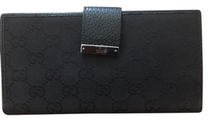 Gucci Gucci Canvas & Leather Wallet