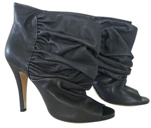 Vero Cuoio Slouched Leather Black Boots