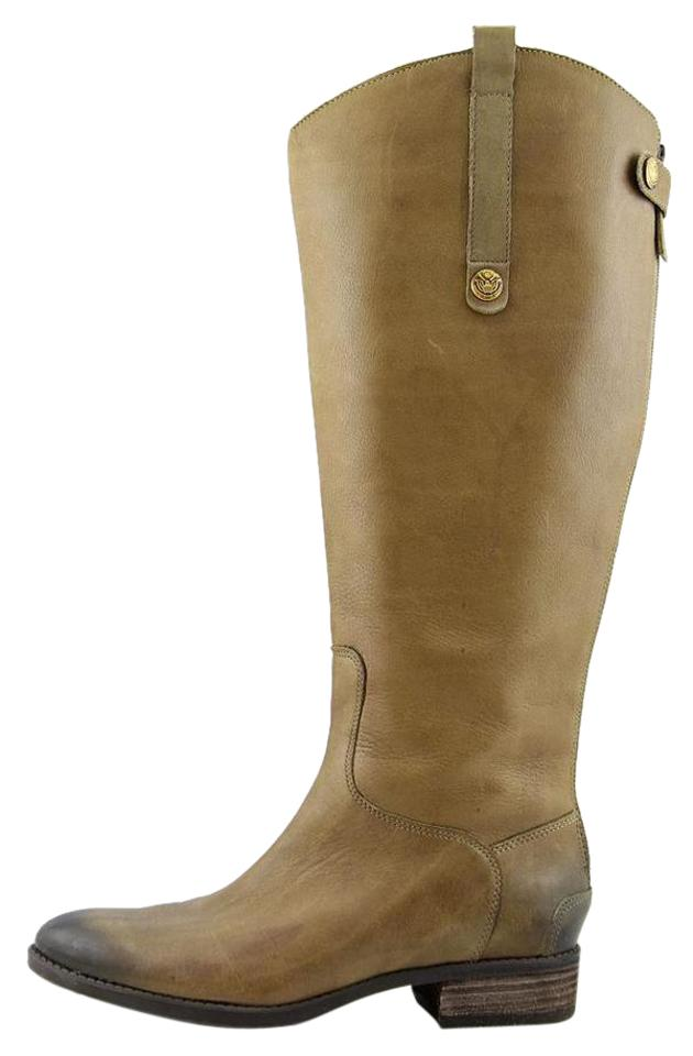 4c495ad3f86a7 Sam Edelman Olive Penny Womens M Leather Zip-up Knee High Casua Boots  Booties