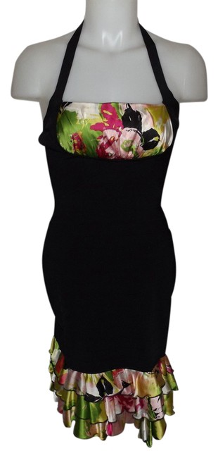 Item - Multicolor Halter Mid-length Night Out Dress Size 6 (S)