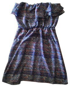 Ali & Kris short dress Blue/multi/print on Tradesy