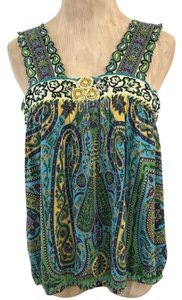Free People Top Teal, turquoise, green, yellow, purple